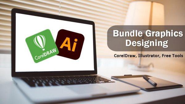 Bundle Graphics Designing CoralDraw and illustrator